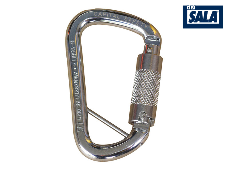 Stainless Steel Triple Action Karabiner w/ Captive Pin